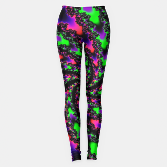 Thumbnail image of Vortex Cyber Goth Fractal Art Leggings, Live Heroes