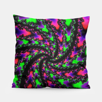 Thumbnail image of Vortex Cyber Goth Fractal Art Pillow, Live Heroes