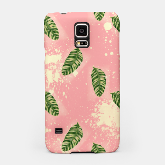 Miniaturka Botanical Leaves on Pink Samsung Case, Live Heroes