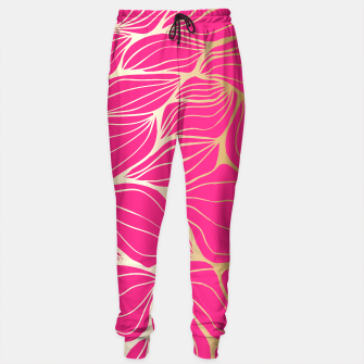 Thumbnail image of gold and hot pink leaf pattern, Live Heroes