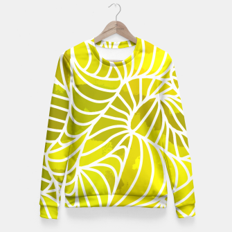Thumbnail image of ptrn yellow Fitted Waist Sweater, Live Heroes