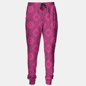 "Thumbnail image of ""Ruby flower"" bohemian pattern Sweatpants, Live Heroes"