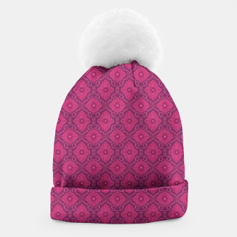 """Thumbnail image of """"Ruby flower"""" bohemian pattern Beanie, Live Heroes"""