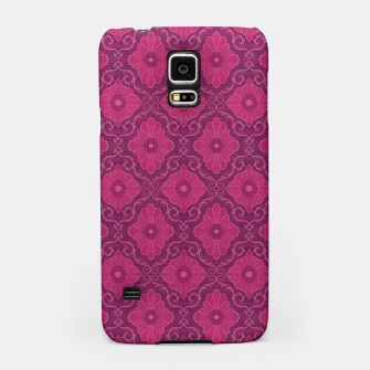 """Thumbnail image of """"Ruby flower"""" bohemian pattern Samsung Case, Live Heroes"""