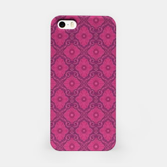 """Thumbnail image of """"Ruby flower"""" bohemian pattern iPhone Case, Live Heroes"""