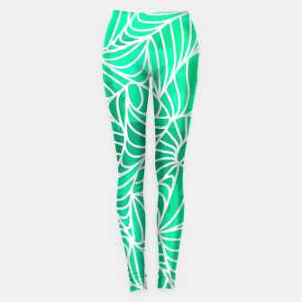 Thumbnail image of ptrn green Leggings, Live Heroes