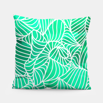 Thumbnail image of ptrn green Pillow, Live Heroes
