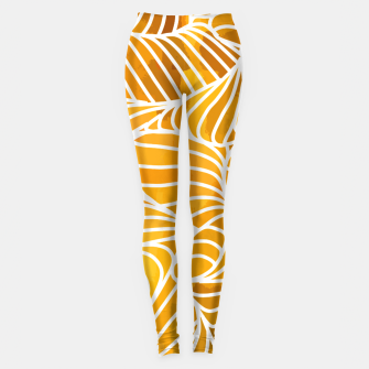 Thumbnail image of ptrn orange Leggings, Live Heroes
