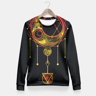 Thumbnail image of Geometry two Fitted Waist Sweater, Live Heroes