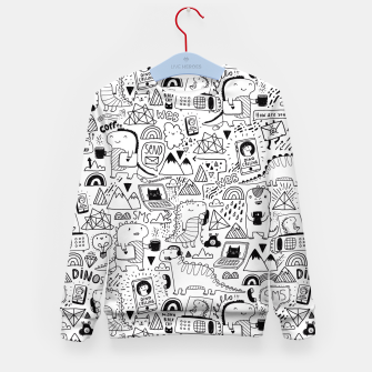 Thumbnail image of Communication Dinosaurs Kid's Sweater, Live Heroes