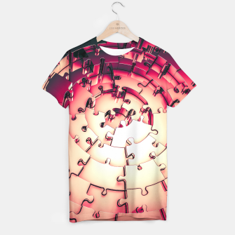 Thumbnail image of Metal Puzzle RETRO RED T-shirt, Live Heroes