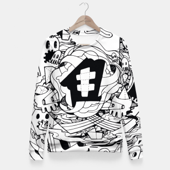 Thumbnail image of Bubble Fitted Waist Sweater, Live Heroes