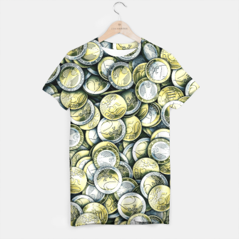 Thumbnail image of Euro coins T-shirt, Live Heroes