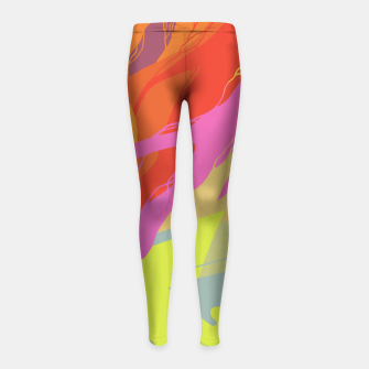 Thumbnail image of Puddle Girl's Leggings, Live Heroes
