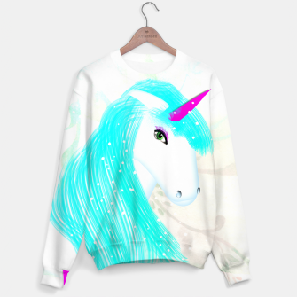 Thumbnail image of Whimsical Fantasy Unicorn Graphic Sweater, Live Heroes