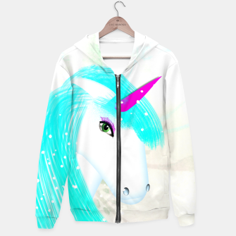 Thumbnail image of Whimsical Fantasy Unicorn Graphic Hoodie, Live Heroes