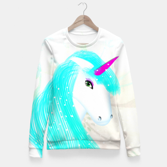 Thumbnail image of Whimsical Fantasy Unicorn Graphic Fitted Waist Sweater, Live Heroes