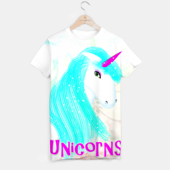 Thumbnail image of Whimsical Fantasy Unicorn Graphic T-shirt, Live Heroes