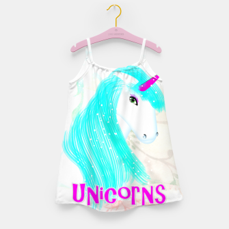 Thumbnail image of Whimsical Fantasy Unicorn Graphic Girl's Dress, Live Heroes