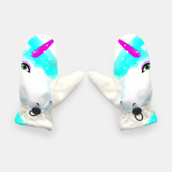 Thumbnail image of Whimsical Fantasy Unicorn Graphic Gloves, Live Heroes