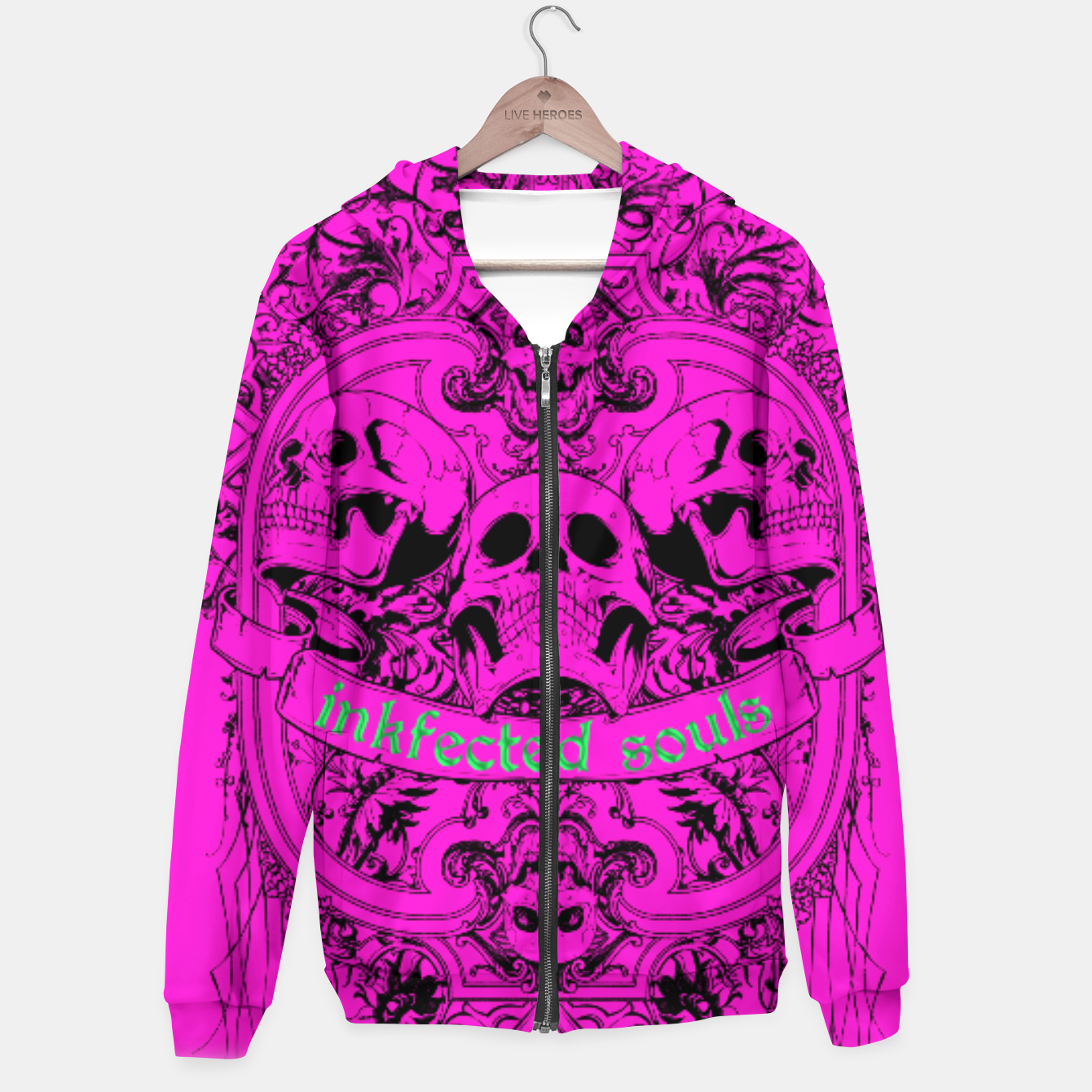 Image of HAPPY SOULS Pink Inkfected Edition Hoodie - Live Heroes