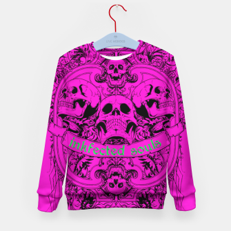 Thumbnail image of HAPPY SOULS Pink Inkfected Edition Kid's Sweater, Live Heroes