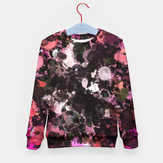 Thumbnail image of Pink Black Paint Splatter  Kid's Sweater, Live Heroes