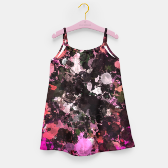Thumbnail image of Pink Black Paint Splatter  Girl's Dress, Live Heroes