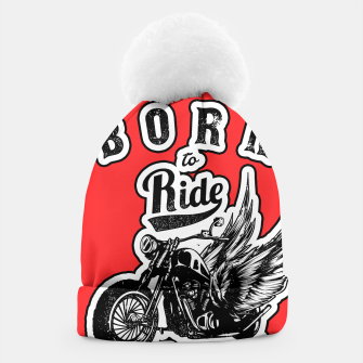 Thumbnail image of BORN TO RIDE Angels Blood Edition Beanie, Live Heroes