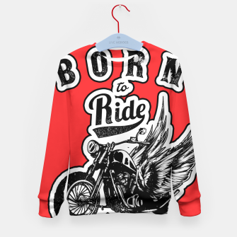 Thumbnail image of BORN TO RIDE Angels Blood Edition Kid's Sweater, Live Heroes