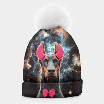 Thumbnail image of SPACE DOBERMAN 3D Pink Devil Edition Beanie, Live Heroes