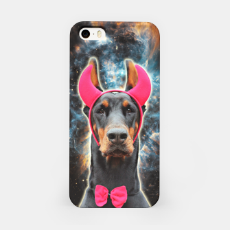 Thumbnail image of SPACE DOBERMAN 3D Pink Devil Edition iPhone Case, Live Heroes