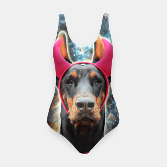 Thumbnail image of SPACE DOBERMAN 3D Pink Devil Edition Swimsuit, Live Heroes
