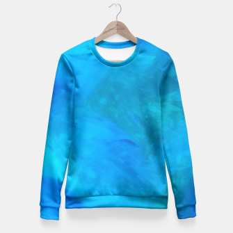 Thumbnail image of NelBluDipintoDiBlu Design  Fitted Waist Sweater, Live Heroes