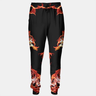 Thumbnail image of Flaming Skull Gothic Art Sweatpants, Live Heroes