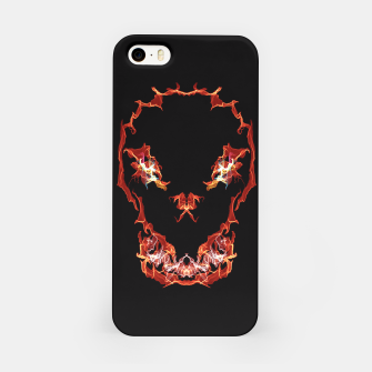 Miniatur Flaming Skull Gothic Art iPhone Case, Live Heroes