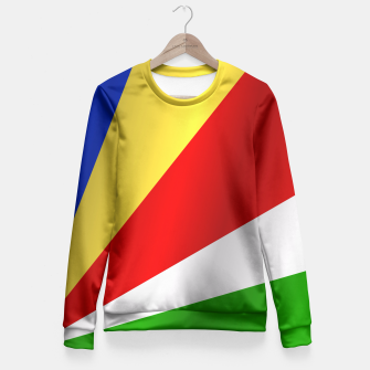 Flag of Seychelles Fitted Waist Sweater thumbnail image