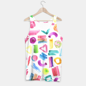 Thumbnail image of Modern bright pink teal watercolor colorful brushstrokes shapes  Tank Top, Live Heroes