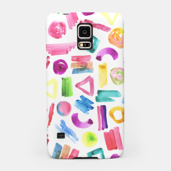 Thumbnail image of Modern bright pink teal watercolor colorful brushstrokes shapes  Samsung Case, Live Heroes