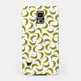 Thumbnail image of Modern bold bright yellow banana pattern  Samsung Case, Live Heroes
