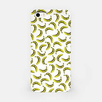 Thumbnail image of Modern bold bright yellow banana pattern  iPhone Case, Live Heroes