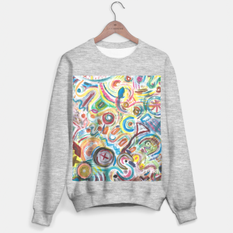 Thumbnail image of Abstract Art Design  Sweater, Live Heroes