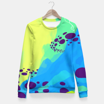Thumbnail image of World Mountain Fitted Waist Sweater, Live Heroes