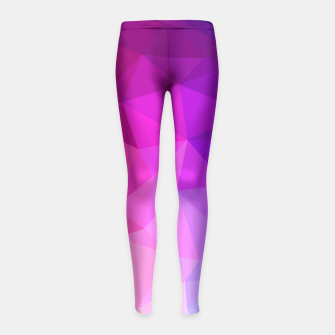 Thumbnail image of geometric BGs05 Girl's Leggings, Live Heroes