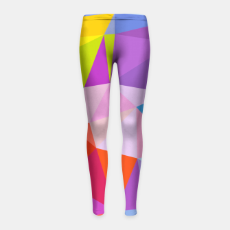 Geometric BGs08 Girl's Leggings thumbnail image
