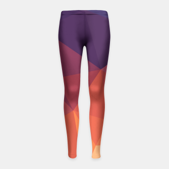 Thumbnail image of Geometric BGs14 Girl's Leggings, Live Heroes