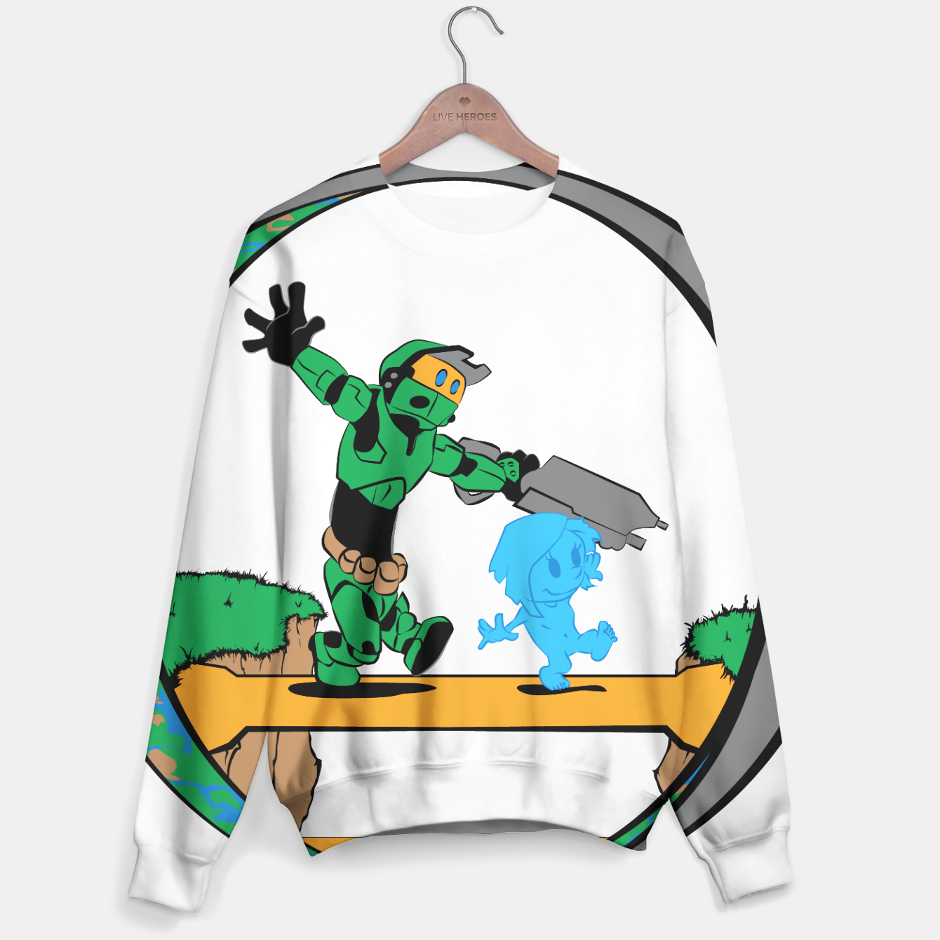 Image of Galactic Journey Sweater - Live Heroes