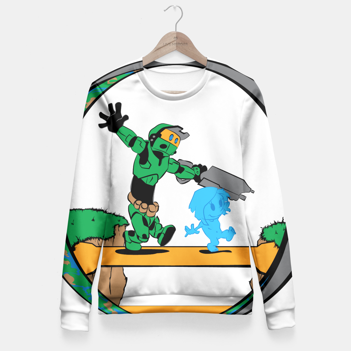 Image of Galactic Journey Fitted Waist Sweater - Live Heroes
