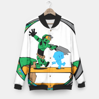 Thumbnail image of Galactic Journey Baseball Jacket, Live Heroes