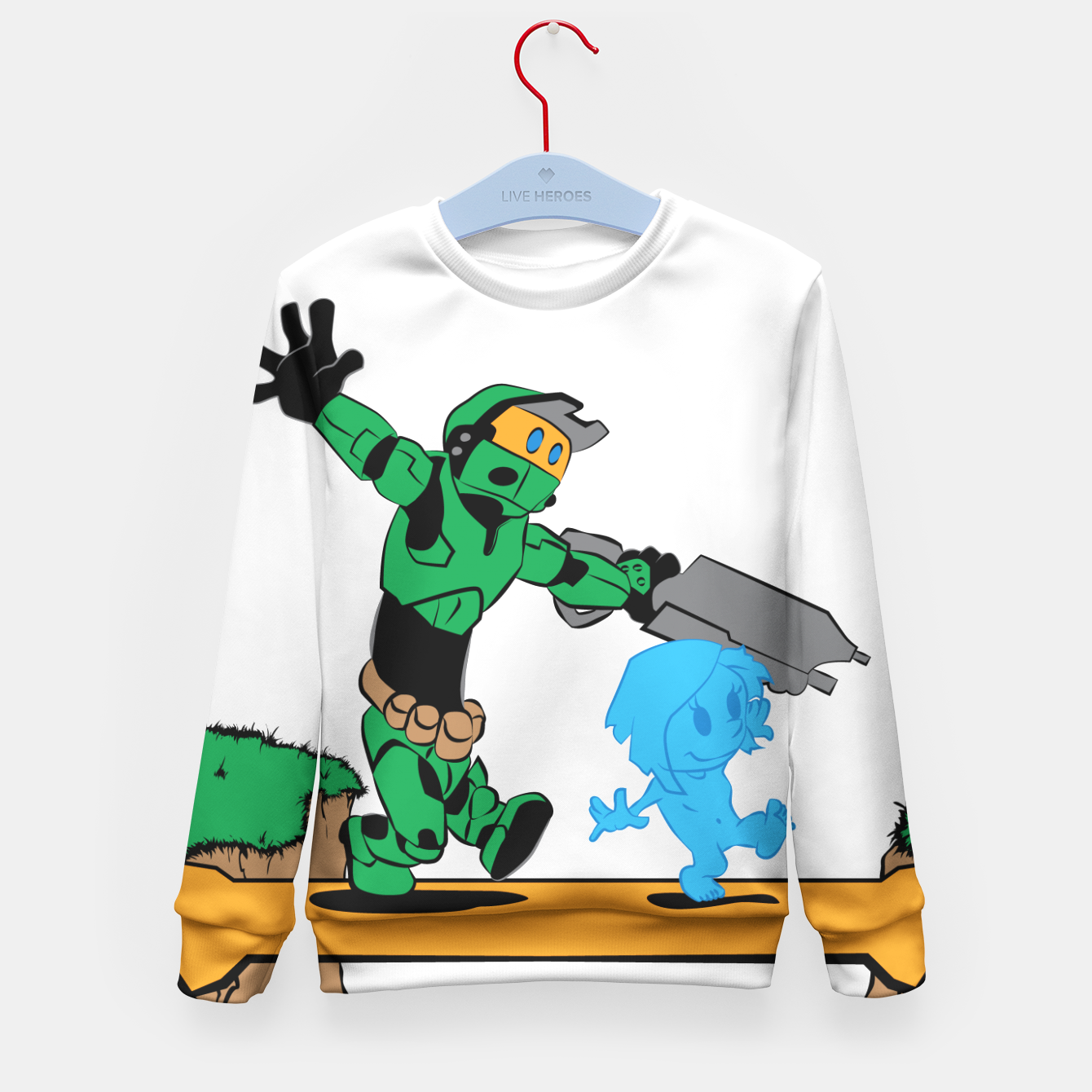 Image of Galactic Journey Kid's Sweater - Live Heroes